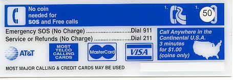 ameritech instruction card payphone insert payphone instruction card att - Payphone Calling Cards