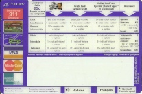 nortel millennium payphone Insert Instruction Card