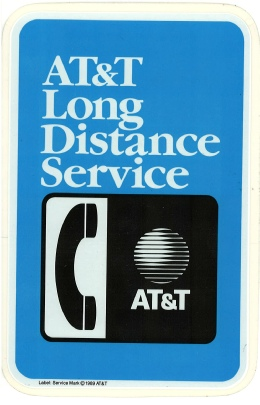 AT&T Long Distance Decal Sticker Payphone