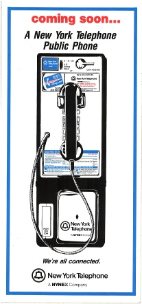 NEW NYNEX Payphone Install Decal
