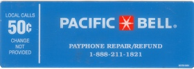 PAC BELL Payphone  Instruction Card Payphone Insert