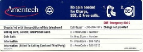 Ameritech Instruction Card Payphone Insert