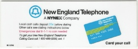 New england Telephone  Payphone Instruction Card Payphone Insert