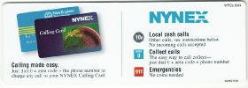 NYNEX Upper Payphone  Instruction Card
