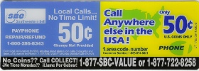Payphone  Instruction Card Payphone Insert SBC